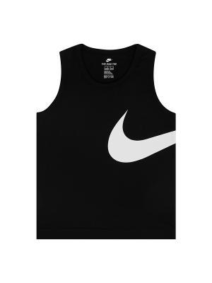 Майка спортивная Nike. Цвет: черный