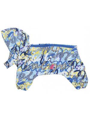 Дождевик для собак LION.. Цвет: синий, желтый
