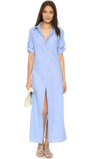 Пляжное платье-рубашка Thayer. Цвет: шамбре