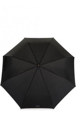 Складной зонт в полоску Moschino. Цвет: темно-серый