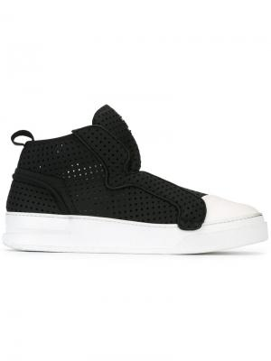 Contrast slip-on sneakers Bruno Bordese. Цвет: чёрный