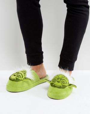 Fizz Creations Слиперы Star Wars Yoda. Цвет: зеленый