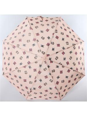 Зонт ArtRain. Цвет: светло-серый, бледно-розовый
