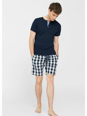 Пижамный комплект - CUADRO MANGO MAN. Цвет: темно-синий