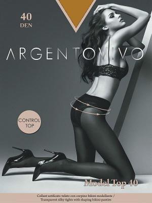Колготки Model Top 40 Argentovivo. Цвет: коричневый
