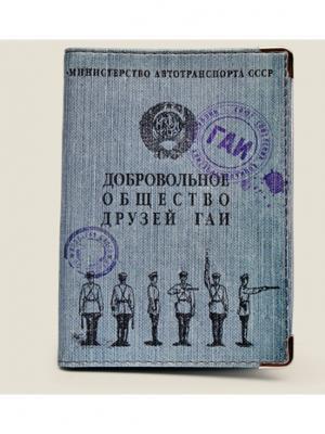 Обложка для автодокументов Общество друзей ГАИ Бюро находок. Цвет: светло-голубой