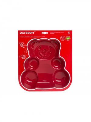 Форма для выпечки Мишка OURSSON. Цвет: красный