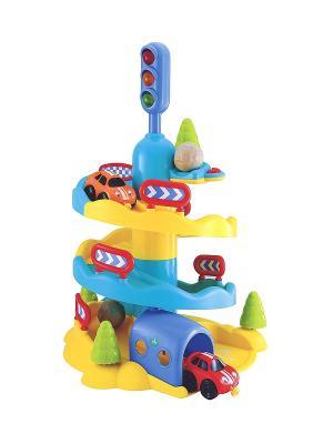 Автомобильная горка Чудеса на виражах ELC. Цвет: желтый, голубой