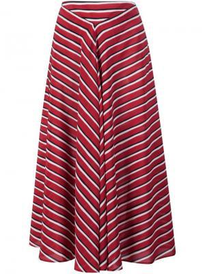 Полосатая юбка Altuzarra. Цвет: красный