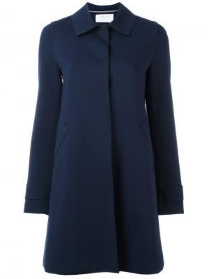 Пальто на пуговицах Harris Wharf London. Цвет: синий