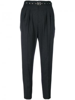 Зауженные брюки с люверсами на поясе Iro. Цвет: чёрный