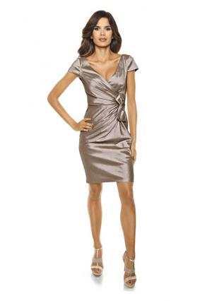 Коктейльное платье Ashley Brooke. Цвет: изумрудный, серо-коричневый, черный