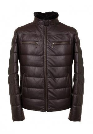 Куртка утепленная GALLOTTI. Цвет: коричневый