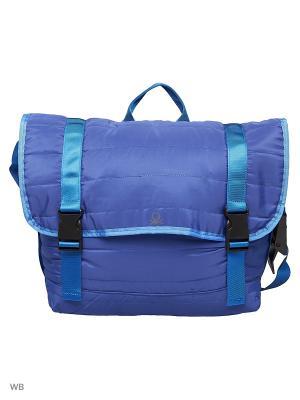 Сумка United Colors of Benetton. Цвет: фиолетовый, бирюзовый