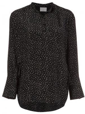 Рубашка с узором в горох Grey Jason Wu. Цвет: чёрный