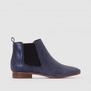 Ботинки кожаные Chelsea BENSIMON. Цвет: синий