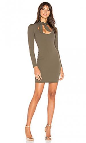 Платье с завязкой foxy Nookie. Цвет: зеленый