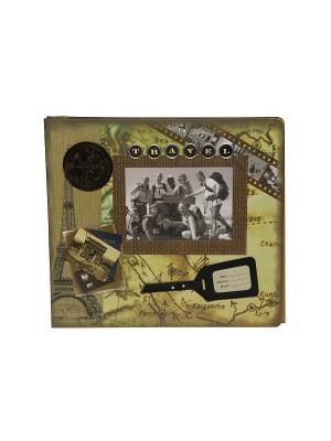 Фотоальбом магнитный HomeMaster. Цвет: коричневый, белый, черный
