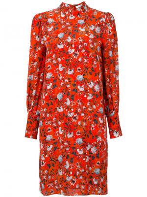 Платье Mirela Erdem. Цвет: красный