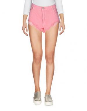 Джинсовые шорты ONE x ONETEASPOON. Цвет: розовый