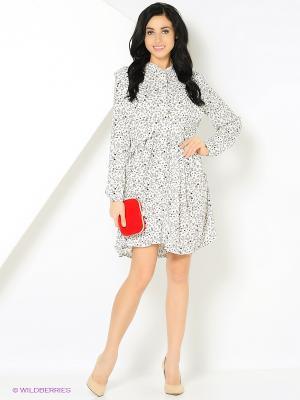 Платье с принтом звезды белое MONOROOM