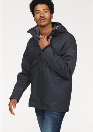 Куртка 3 в 1 POLARINO. Цвет: хаки+темно-серый меланжевый, черный+светло-серый меланжевый