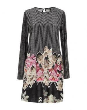Короткое платье LUNATIC. Цвет: серый