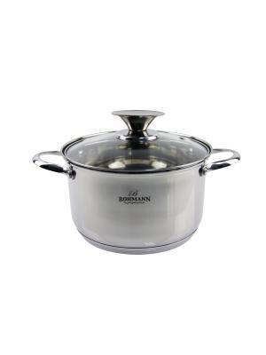 Набор кухонной посуды Кастрюли 3,6л/5,8л/ сотейник BOHMANN. Цвет: серебристый