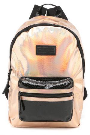 Рюкзак Little Marc Jacobs. Цвет: медно-розовый