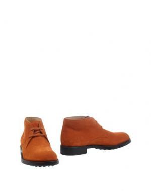 Полусапоги и высокие ботинки TOD'S. Цвет: ржаво-коричневый
