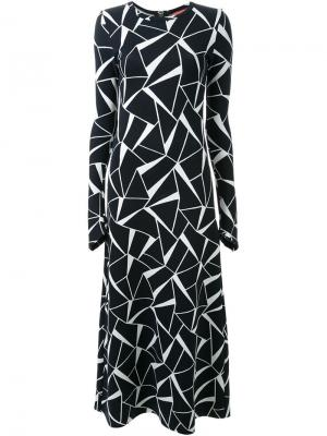Платье макси Three Dimensions Manning Cartell. Цвет: чёрный