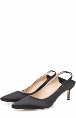 Атласные туфли  X Manolo Blahnik Vetements. Цвет: черный