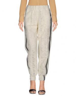 Повседневные брюки JAY AHR. Цвет: слоновая кость