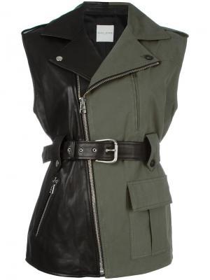 Куртка комбинированного кроя в стиле милитари Each X Other. Цвет: чёрный