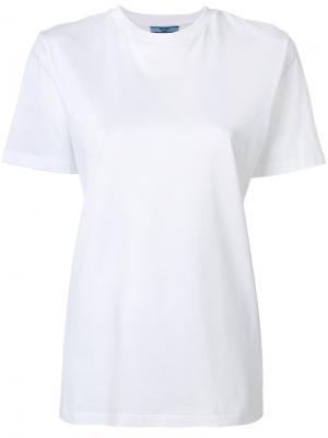 Классическая футболка Prada. Цвет: белый