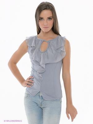 Блузка SUGARLIFE. Цвет: серо-голубой