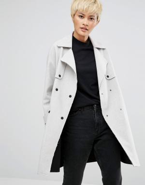Native Youth Куртка-макинтош Esker. Цвет: серый