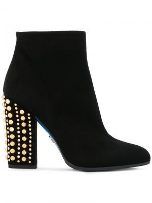 Ботинки с заклепками на каблуке Loriblu. Цвет: чёрный