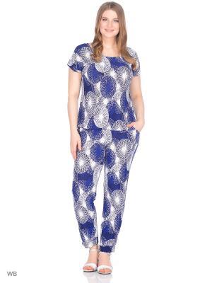 Комплект брюки+блузка, модель Лоис Dorothy's Home. Цвет: синий
