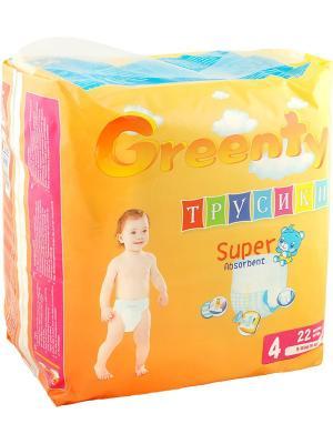 Одноразовые детские подгузники-трусики GREENTY 4 (9-14 кг) 22 шт.. Цвет: белый