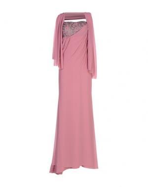 Длинное платье MUSANI COUTURE. Цвет: пастельно-розовый