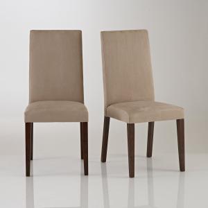 2 стула из микрофибры, Hartford La Redoute Interieurs. Цвет: светло-серо-коричневый,темно-коричневый