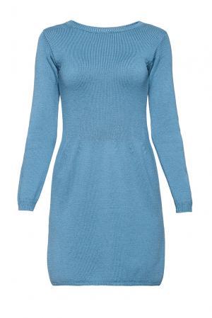 Платье из шерсти 191026 Andre Maurice. Цвет: синий