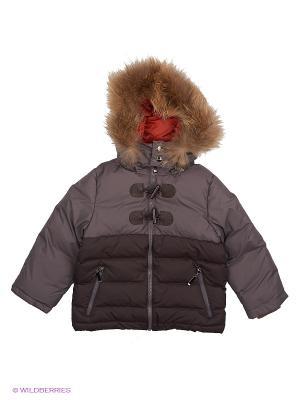 Куртка Сева Аксарт. Цвет: коричневый, темно-серый