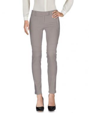 Повседневные брюки CLIÓ. Цвет: голубиный серый