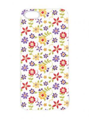 Чехол для iPhone 5/5s Лютики-цветочки Chocopony. Цвет: белый, черный