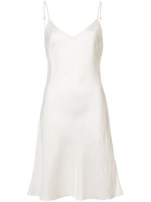 Платье на бретелях Organic By John Patrick. Цвет: белый