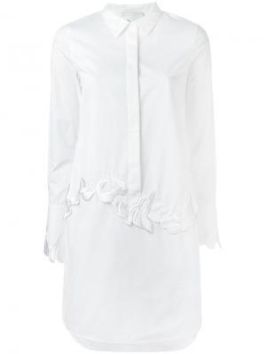 Платье-рубашка с цветочной вышивкой 3.1 Phillip Lim. Цвет: белый