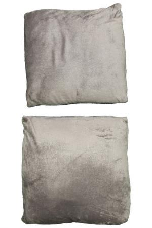 Набор подушек, 2 шт. MIKRONESSE. Цвет: серый