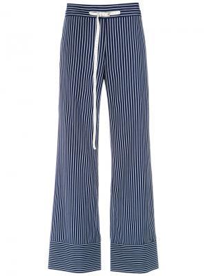 Striped wide leg trousers Gloria Coelho. Цвет: синий